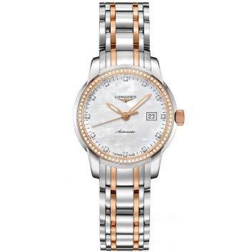 Longines Saint Imier Madre de Perla Dial Oro y Acero Damas Reloj L25635887