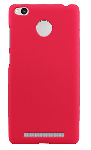 Parallel Universe Xiaomi Redmi 3S Prime Back Cover Case Premium Smooth Rubberised Matte Finish Hard PC backcover- Hot Pink