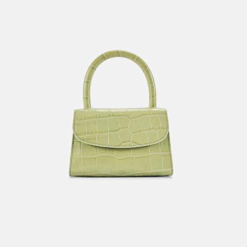 SDFIUH Fashion Alligator Top-Griff Handtasche Designer Frauen Umhängetasche Mini Schulter Messenger Bags für Frauen 2019 Sac (Color : Green, Size : One Size) - Griff Designer-handtasche