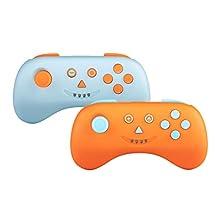 Multi Playcon Set de 2 Manettes de Jeu sans Fil Bluetooth Bleu/Orange Compatible avec Nintendo Switch/Nintendo Switch Lite