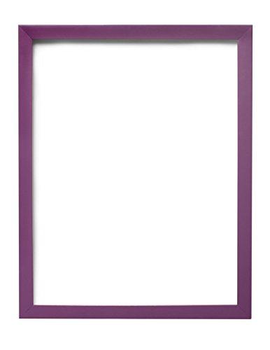 Cornice per poster/fotografie, con pannello posteriore in MDF, pronta da appendere o esporre, con strato ad alta trasparenza infrangibile in stirene, 8colori alla moda, Legno, Purple, 22,9 x 17,8 cm