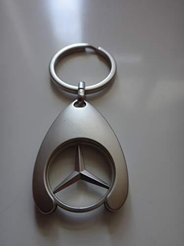 Mercedes - Llavero Original con Chip/Moneda para Carro de la Compra, C