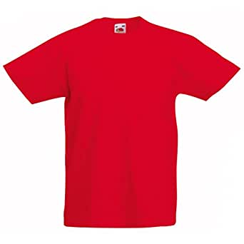 "(SS031) Fruit of the Loom T.Shirt Red, Age 5-6, 28"" Chest"