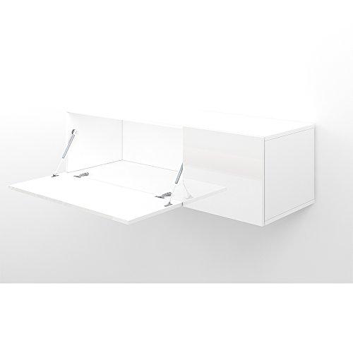 Wohnwand Hochglanz Weiß Design