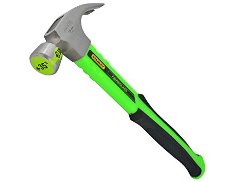 31rZL8McYjL - BEST BUY #1 Stanley Tools ZSTA-1-51-501 450 g Hi-Vis Green Rip Claw Fibreglass Hammer Reviews and price compare uk