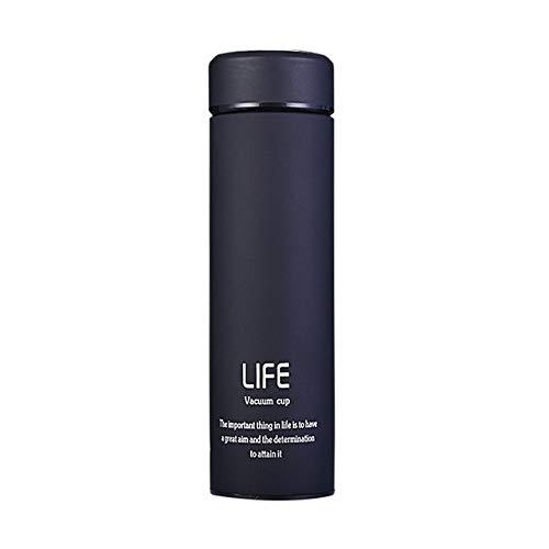 JIAOJIAN 500 ML haushaltswärmflasche vakuumisolierung wärmebecher mit Filter Edelstahl 304 wärmebecher kaffeetasse wasserflasche büro geschäft Schwarz 500ml (China-speicher-brust)