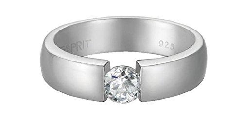 Esprit-Damen-Ring-925-Silber-rhodiniert-Zirkonia-wei-Rundschliff