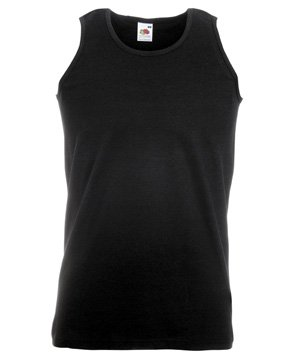 Fruit of the Loom Athletic Vest, Black, M
