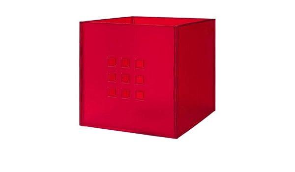 pas mal 4b974 196fd Ikea - Box Lekman, Rouge (Pour Les Étagères Expedit): Amazon ...