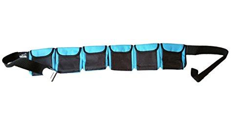 Tauchgurt mit Taschen, blau, large 6 pocket -