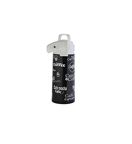 axentia 121564 Pumpkanne in schwarz O. weiß aus Edelstahl - AIRPOT 1, 9 L,...