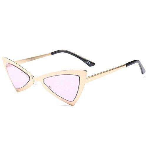 YANKAN Sonnenbrillen-Dreieckige Katzenauge Sonnenbrillen-Metallrahmen-für Outdoor-Reisen Oder Stadtrundgang (Einfache Cat Kostüme Für Frauen)