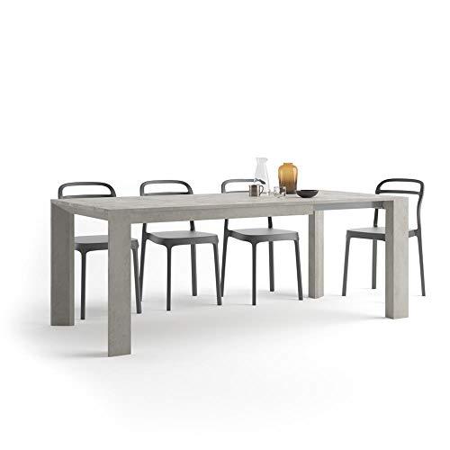 Mobili Fiver, Table Extensible Cuisine, Giuditta, Béton, 140 x 90 x 75 cm, Mélaminé, Made in Italy
