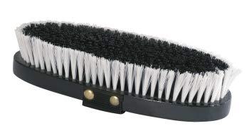 PFIFF 100720 Kardätsche mit Kunststoffbürsten und Handschlaufe, Putzzeug Schwarz