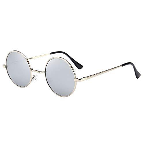 Junecat Männer Frauen polarisierten Kreis Sun-Glas-Runde Metallrahmen UV400 Eyewear-Harz-Objektiv Brillen Außen Unisex Sonnenbrille