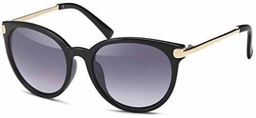 Vintage Lunettes de soleil en tendance Unisexe 60er Années Style avec trendy finition couleur bronze Montures en métal pour hommes & Femmes - Retro lunettes Or gris