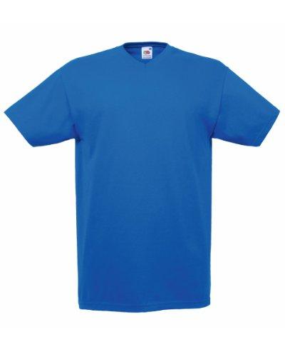 Fruite of the Loom Valueweight V-Neck T-Shirt, vers. Farben L,Royal Blau (Royal V-neck)