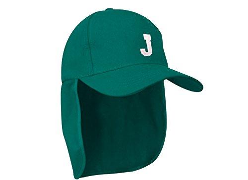 Junior-Legionär-Stil Jungen Mädchen Mütze Baseball Nackenschutz Sonnenschutz Cap Hut Kinder Kappe A-Z Letter MFAZ Morefaz Ltd (J) (Kleiner Junge Baseball-mütze)