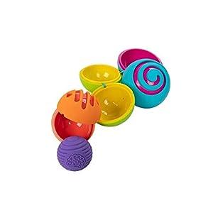 Fat Brain Toys- Pelotas Texturas Oombeeball, Color carbón (1)