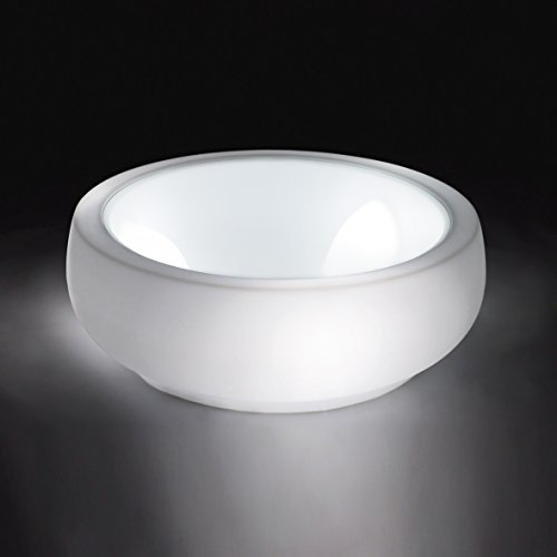 Slide Chubby Side Table Light Table basse lumineuse Blanche brillante