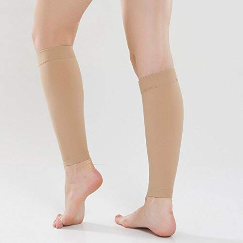 KTM Healthcare Pack of 2 Women Men Medical Support Leg Shin Socks Varicose Veins Calf Sleeve Compression Brace Wrap leg Shaping Massager