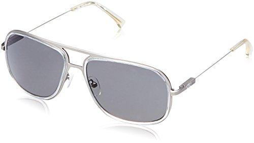 Calvin Klein UV protected Rectangular Men Sunglasses (Calvin Klein Jeans 109 000 57 S|57 millimeters|Grey)