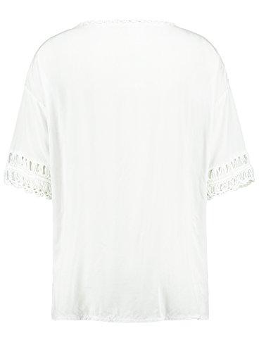 Key Largo Damen Tunika WTU Summer Mandala Spirituell Hippie Vintage Look Off White