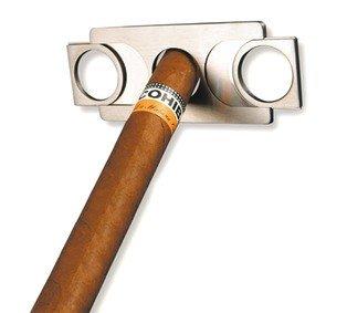 adorini Cutter Zigarrenabschneider im Scheckkartenformat aus Edelstahl mit Doppelklinge in Geschenkbox (Dupont Messer)