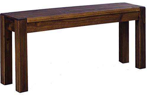 Brasilmöbel Sitzbank 80 cm Rio Kanto Eiche antik Pinie Massivholz Größe und Farbe wählbar Esszimmerbank Küchenbank Holzbank Echtholz passend zu den Tischen und Stühlen Maxibank Maxihocker -