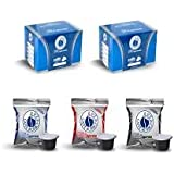 3x50 capsule Borbone Respresso DEGUSTAZIONE 50 NERA, 50 BLU E 50 RED compatibili Nespresso