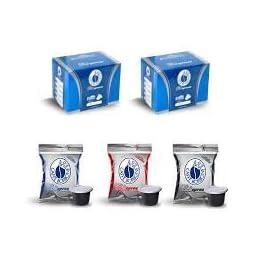 3×100 capsule Borbone Respresso DEGUSTAZIONE 100 NERA, 100 BLU E 100 RED compatibili Nespresso