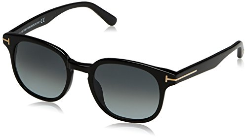 Tom Ford Unisex-Erwachsene FT0399 01N 50 Sonnenbrille, Schwarz (Nero Lucido/Verde)