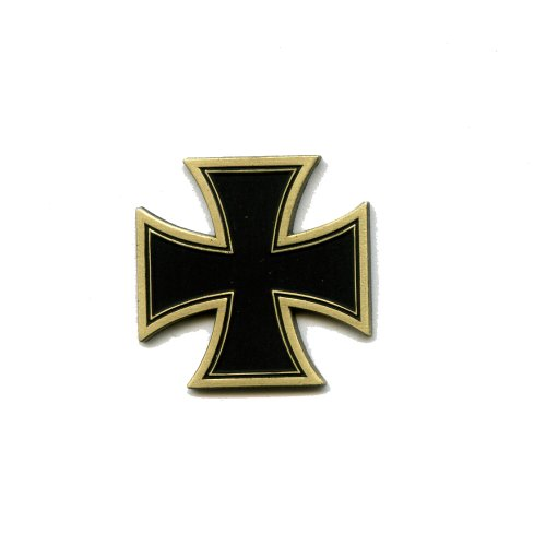 Kreuz Cross Biker Motorrad Gothic Metall Button Badge Pin Pins Anstecker 124