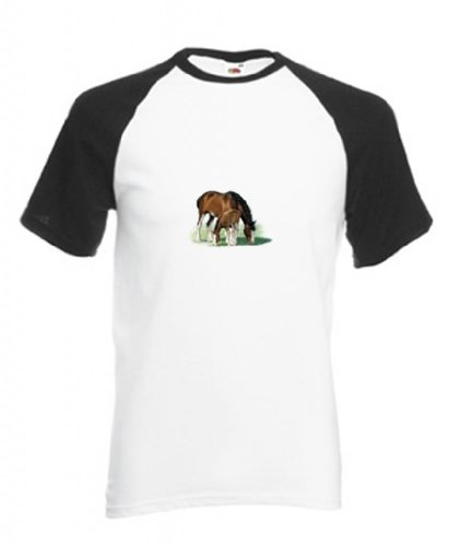 Simply Tees - Maglietta sportiva -  uomo Bianco/Nero