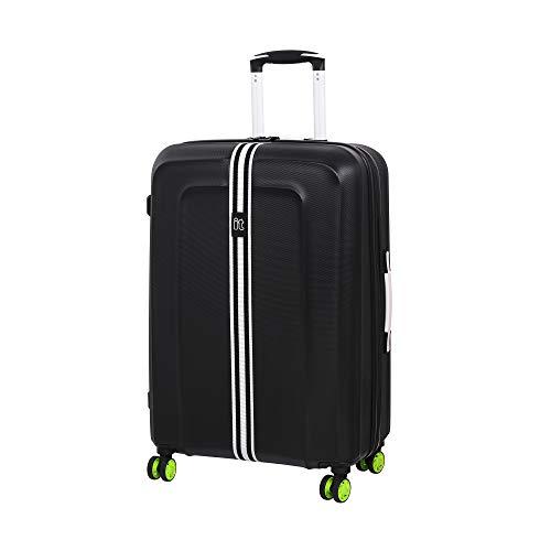 it luggage Jupiter 8 Wheel Medium Spinner Expandable Hard Case Koffer, 69 cm, 106 liters, Schwarz (Black)