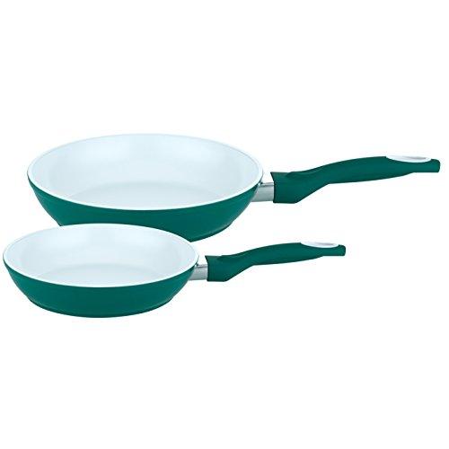 ELO Pure Green 2 teilig (24 und 28 cm) Pfannenset, Aluminium, grün 0 cm, 2-Einheiten