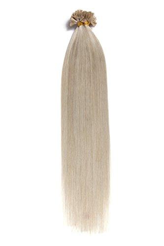 'graue bonding extension cheratina 100% remy capelli veri/human hair–1g 50cm/20liscia extension–capelli lunghi con bonding cheratina u tip come prolunga e capelli verdichtung: colore grigio