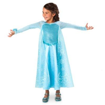 Elsa Kostüm Kleid für Kinder Größe 9-10 Jahre, Disney Original (Elsa Musical Kostüm)