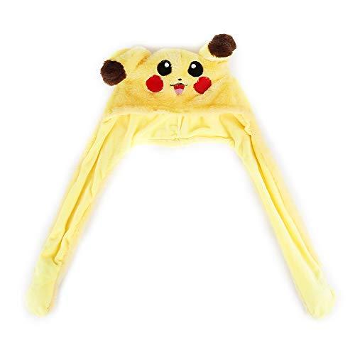 WEIHUIMEI 1 STÜCK Plüsch Spaß Häschenohren Kapuze Frauen Kostüm Hüte Warme Mütze Attraktive Spielzeug Nette Mädchen Geschenk (Yellow)
