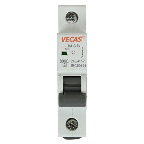 Leitungsschutzschalter Sicherungsautomat B, 1-polig, 6A LS-Schalter -