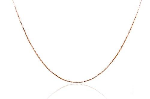 Chelsea Jewelry collezioni di base 1.9mm oro rosa 18K popcorn collana a catena (55,9cm,