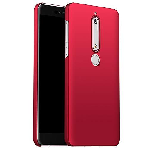 XTstore Hülle für Nokia 6.1, Ultra Dünn Schlank Hart Slim Hard Case Anti-Kratzer Stoßfest Handyhülle Schutzhülle Schale Etui Bumper Cover für Nokia 6.1 / Nokia 6 2018 - Rot -