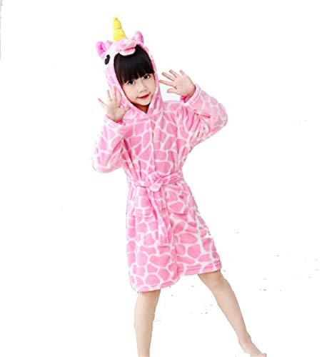 Kostüm Einhorn Pyjamas Kreative 3D Unicorn Bademantel für Jungen Mädchen ()