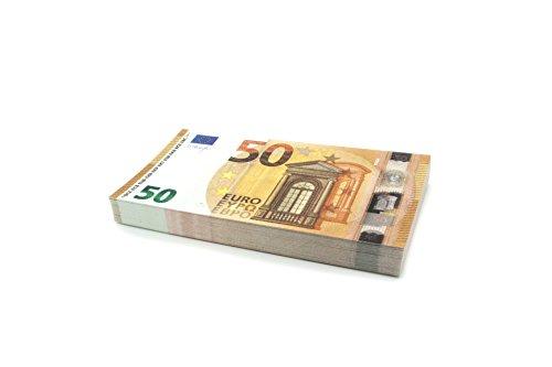 100 x €50 EURO Cashbricks® Spielgeld Scheine - verkleinert - 75% Größe - 2017