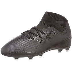 adidas Nemeziz 18.3 FG, Zapatillas de Fútbol para Niños, Negro Core Black/Footwear White 0, 33 EU