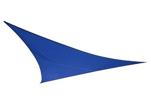 Voile d'Ombrage Bleu Triangle 5m - Imperméable - 160g/m2 - Kookaburra