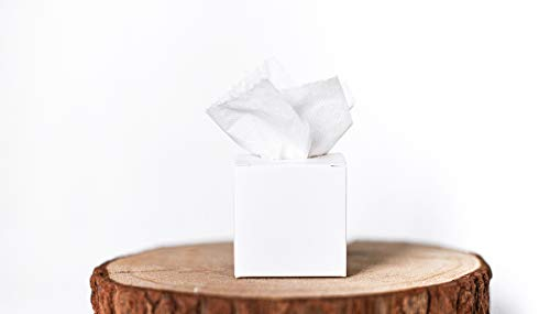 Marry & You 50 Freudentränen Hochzeit -Taschentücher Hochzeit -Gastgeschenke Hochzeit - Geschenkverpackung für die Freudentränen 5x5x5 cm für die Hochzeit, Taufe, Geburtstag, (weiß)