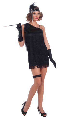Black Diamond Flapper Kleid schwarz - Gr. S/M
