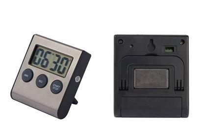 Digitaler Timer Edelstahl Eieruhr Kurzzeitmesser Eier Uhr Countdown Küchenwecker