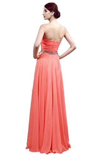 Promgirl House - Robe - Trapèze - Femme Corail